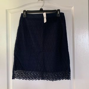 Brand new Loft Pencil skirt with lace overlay